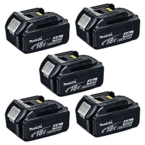 Makita BL1840 18-Volt 4.0 Ah Rechargeable LXT Lithium-Ion Batteries, 5-Pack