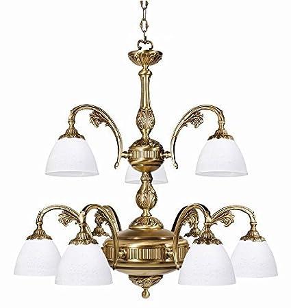 Premium Lampadario luce a sospensione in ottone in bronzo stile ...