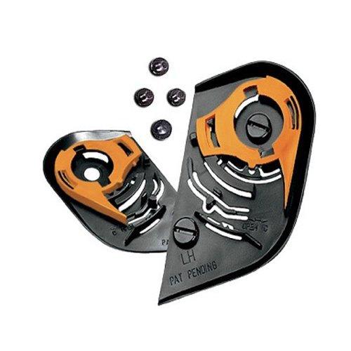 ICON IC-02 Shield, Visor Black Gear Plate, Ratchet Set for AIRFRAME, ALLIANCE, DOMAIN-2 (Domain 2 Helmet)