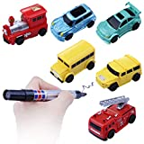 Jinjin Magic Inductive Truck ,(Follows Black Line)Magic Toy Car Play For 2 3 Years Old Toddlers Kids Gift (B)