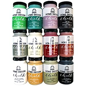 FolkArt Home Decor Chalk Paint Set (8 Ounce), PROMO845 (12-Pack)