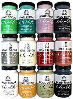 folkart home decor chalk paint set 8 ounce promo845 12 pack