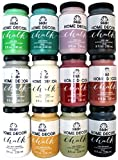 paint colors for homes FolkArt Home Decor Chalk Finish Paint Set (8 Ounce), PROMO845 (12-Pack)