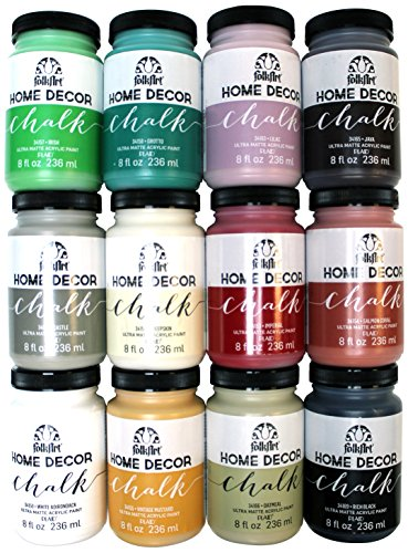 FolkArt Home Decor Chalk Finish Paint Set (8 Ounce), PROMO845 (12-Pack)