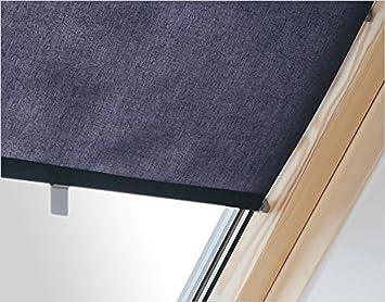 Bevorzugt Innenrollo RAR CXA dunkelblau 37 cm breit für Dachfenster Größe UJ48