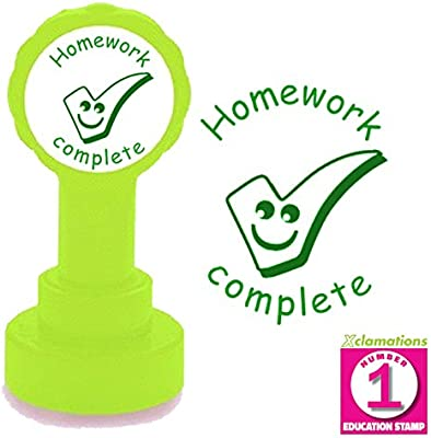 22mm Reinkable Xclamations Stamp Red Ink Homework checked School Stamp