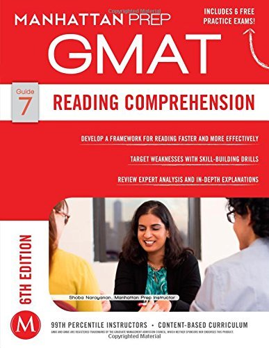 By Manhattan Prep - Reading Comprehension GMAT Strategy Guide, 6th Edition (Manhattan (6 Pap/Psc) (2014-12-17) [Paperback]