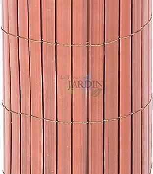 CAÑIZO de OCULTACIÓN PVC marrón teka DOBLE CARA 1,5 x 5 mts: Amazon.es: Bricolaje y herramientas