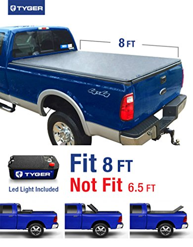 Tyger Auto TG-BC3F1025 TRI-FOLD Truck Bed Tonneau Cover 1999-2016 Ford F-250 F-350 F-450 Super Duty | Styleside 8' Bed (Ford 2007 Truck F250)