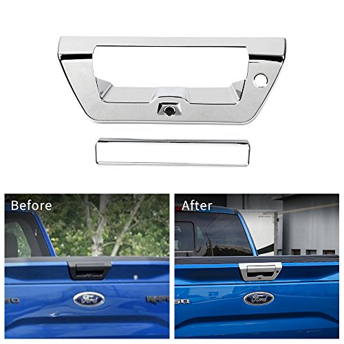 - Voodonala Chrome Tailgate Door Handle Decorative Trim for Ford F150 2015 2016 2017