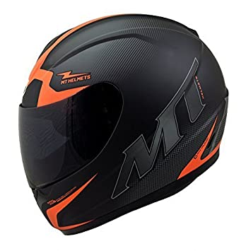 MT TRUENO cara completa casco de moto escuadron naranja - extra pequeño
