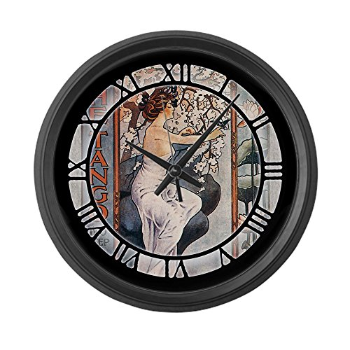 CafePress - Vintage Music Art Nouveau Tango Large Wall Clock - Large 17