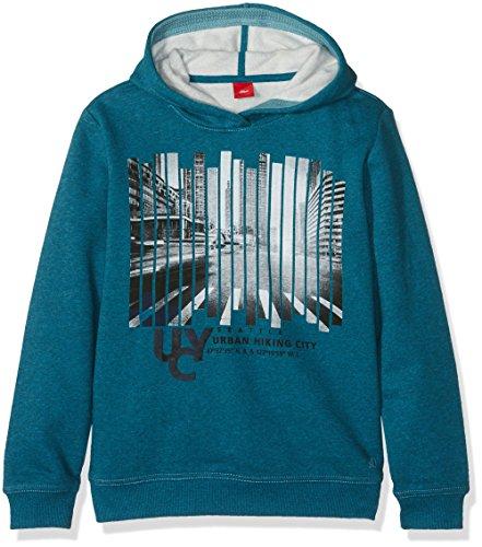s.Oliver Jungen Sweatshirt 61.610.41.5792, Blau (Petrol Melange 63B3), 176 (Herstellergröße: XL)