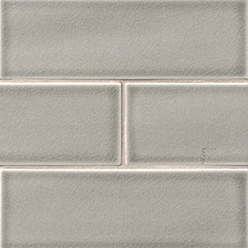 3x6 Gray Glossy Crackle Glazed Subway Ceramic Tile
