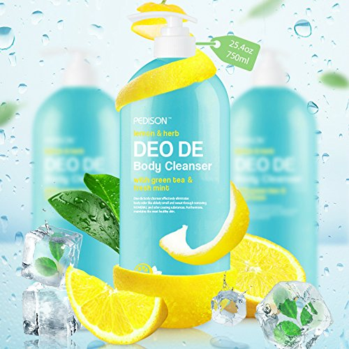 PEDISON Lemon & Herb DEO DE Body Cleanser 25.4 oz [K-Beauty] pH Balanced, Hydrating, Gentle Exfoliating with Lemon & ()