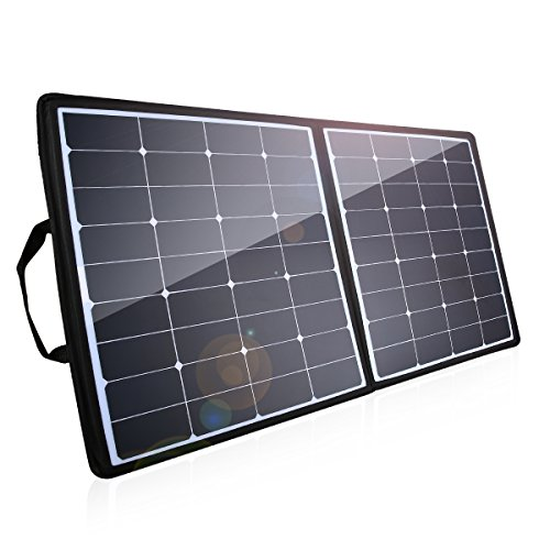 [High Effiency] 100W Solar Charger, Poweradd 18V 12V Foldable Solar Panel Water / Shock / Dust Resistant Sunpower Panel for Laptop, iPhone, Samsung, Generator, PowerHouse, ChargerCenter, UPS and More by Poweradd