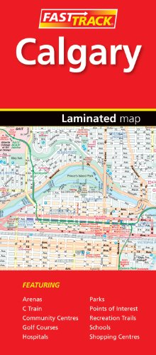 Calgary, Alberta - Fast Track - laminated map (Rand McNally Easy to Fold!)