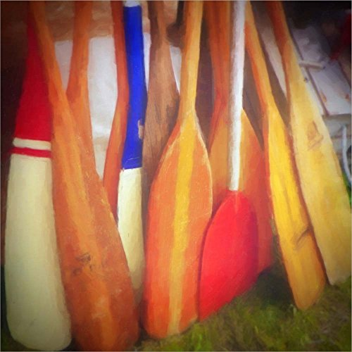 Laminated Oar - Boat Oars by Graffitee Studios Laminated Art Print, 30 x 30 inches