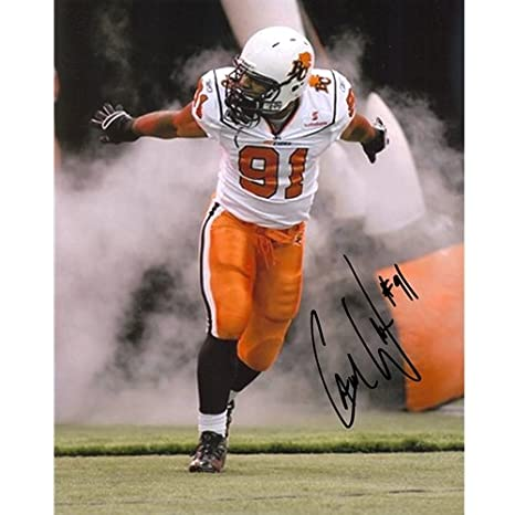 huge selection of a344b 585aa Amazon.com: Cameron Cam Wake Autographed BC Lions (CFL White ...