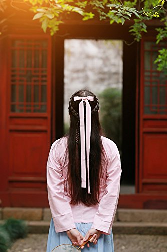 Generic Chinese elements of everyday Women Headband HairbandWomen Head hair rope Ties Ponytail Holder Band Hairband improved color streamers Chinese clothing accessories hair accessories Hair Decor he by Generic (Image #4)