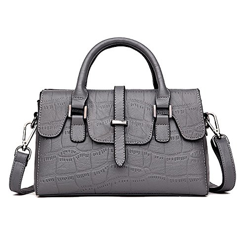 Fashion Tote Shoulder Women Bags Gray Women Engraved Leather Women's Bag Crossbody Zll Wild Bag y0q7pwPB45