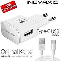 Huawei Hızlı Şarj Cihazı + Micro Usb Data Kablosu, Beyaz, 2A İnovaxis cc22