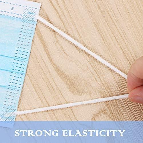 109.3Y Elastic Band for DIY Mask,3mm 1//8 Flat Black Elastic String Cord Elastic Rope Heavy Stretch High Elasticity Knit Strap Trim Spandex Strings for Making Masks DIY Sewing Crafts 100M +Free Tape Ruler
