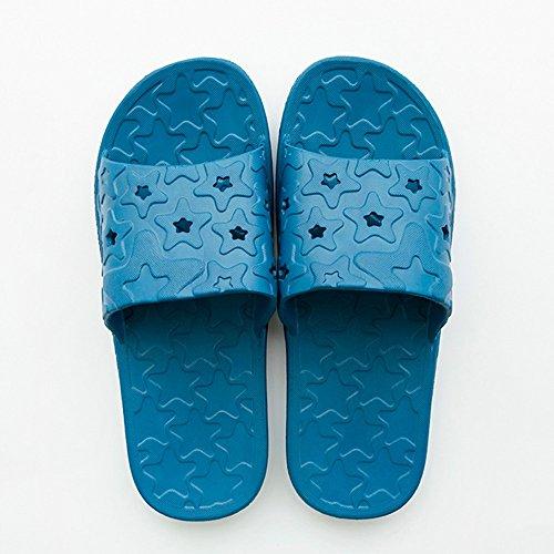 Cómodo Zapatillas de baño antideslizantes de los pares caseros Casa de interior de verano femenina de los deslizadores con el verano suave de las sandalias de la parte inferior (4 colores opcionales) C
