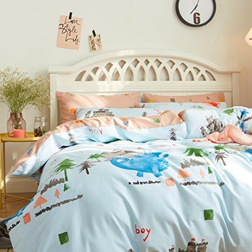 CASA Fairy tale world Duvet cover set 100% cotton Children Bedding Duvet cover and flat sheet and pillowcases,4PC,queen