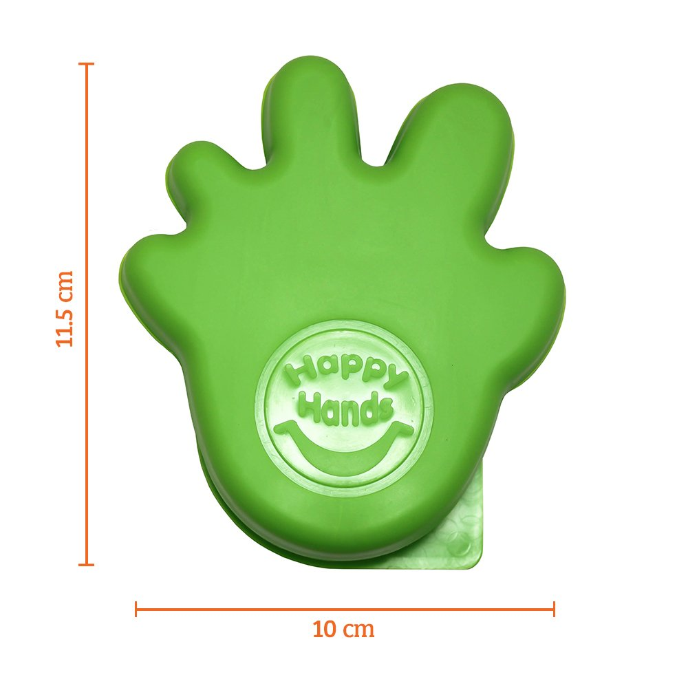 Happy Hands Anti Slam Child Door Safety Finger Trap Stoppers Green 4 Pack