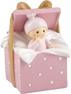 Mopec Figura de Pastel Hucha bebé Caja Regalo, Blanco Roto