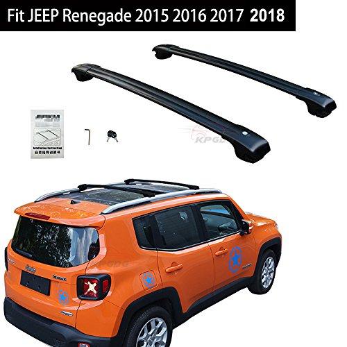 Fit For JEEP Renegade 2015 2016 2017 2018 Lockable Cross Bar Crossbars Roof Racks Baggage Luggage Racks - Black -  KPGDG, EJPZYXH