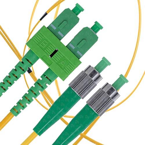 Fiber Fc Sc Singlemode Duplex - SC/APC to FC/APC Fiber Patch Cable Singlemode APC Duplex - 2m (6ft) - 9/125 OS1 - Beyondtech PureOptics Series