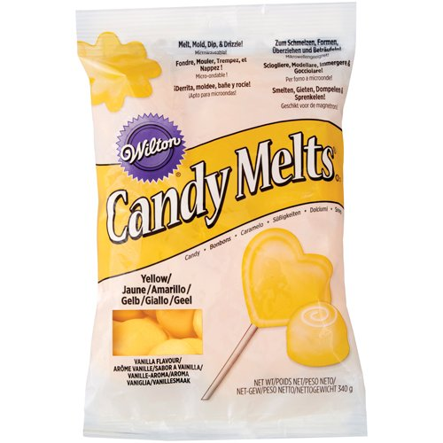 3 x Wilton 12 oz (340g) YELLOW Candy Melts Perfect For Cake Pop Sweet Decoration