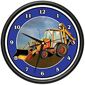 BACKHOE DIGGER Wall Clock heavy equipment operator gift