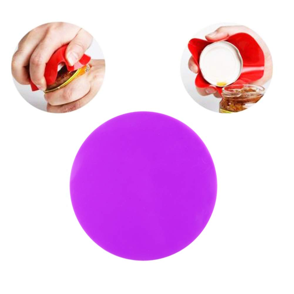 Stainless Steel Manual Can Opener and Silicone Jar Gripper Pads 6PCS