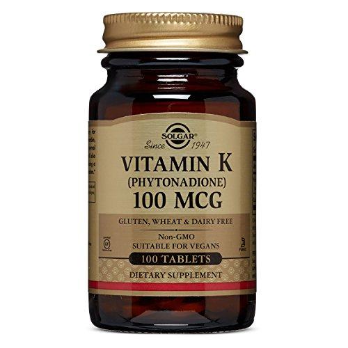 Solgar Vitamin K, 100 mcg, 100 Tablets