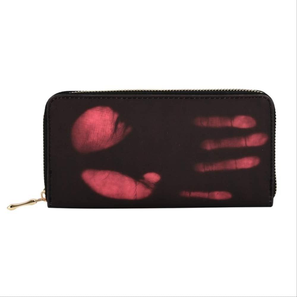 XSHIYQ Cambio de Color térmico mágico Monedero Largo Cartera de Cuero de PU para Hombres y Mujeres Paquete de Tarjeta de Billetera de Cuero de 19.5x9.2.5cm Rosa