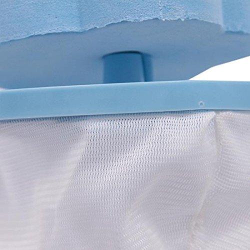 Bolsas de Malla Reutilizables flotantes para la Colada con Forma de Flor para filtros de Pelo Hemore Bolsas para Lavadora Color Azul