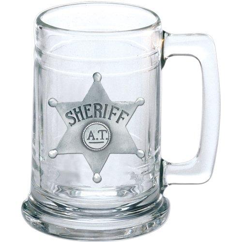 - 1pc, Pewter Sheriff Emblem Stein