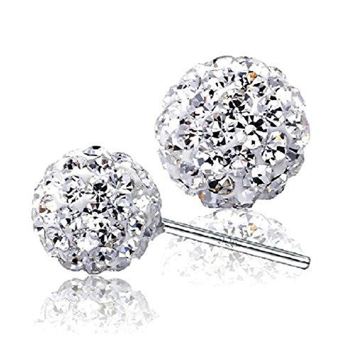 time-pawnshop-elegant-ball-shape-925-sterling-silver-cubic-zirconia-lady-stud-earrings