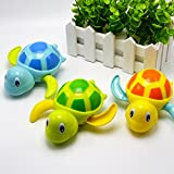 Yimosecoxiang Toys For 1-12 Years Old Boys Educational Cute Cartoon Animal Tortoise Swim Wind-up Chain Clockwork Kid Bathing Toy Random Color