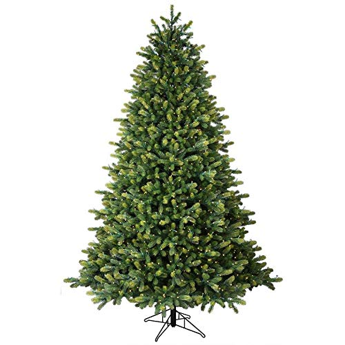 GE 7.5-ft Pre-lit Hampton Spruce Artificial Christmas Tree 1500 Constant Warm White LED Lights