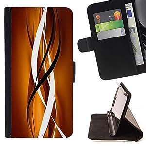 For Samsung Galaxy J1 J100 Case , Oro Marrón Negro Limpiar líneas verticales- la tarjeta de Crédito Slots PU Funda de cuero Monedero caso cubierta de piel
