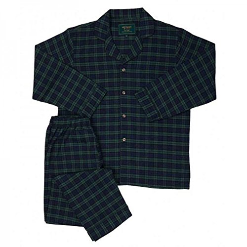 The Snooze Shack Lee Valley Irish Flannel Pajama Set - Tartan Green (small) ()