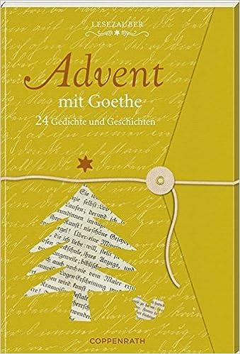 Amazoncom Lesezauber Advent Mit Goethe 24 Gedichte Und