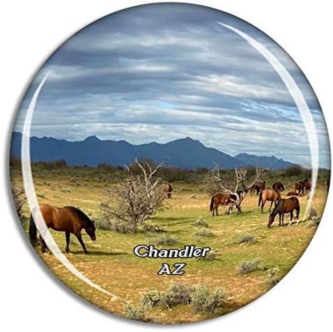 チャンドラー乗馬センターアリゾナ米国冷蔵庫マグネット3Dクリスタルガラス観光都市旅行お土産コレクションギフト強い冷蔵庫ステッカー