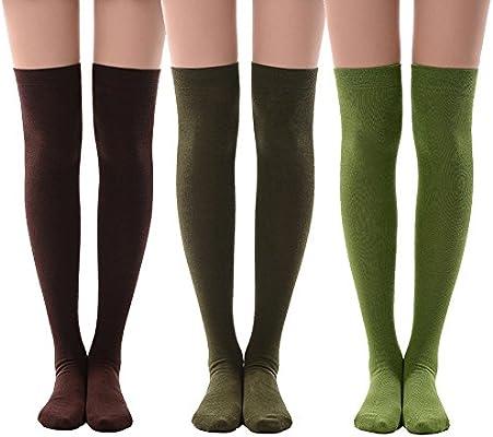 High Elasticity Girl Cotton Knee High Socks Uniform Red Wine And Cheer Up Women Tube Socks