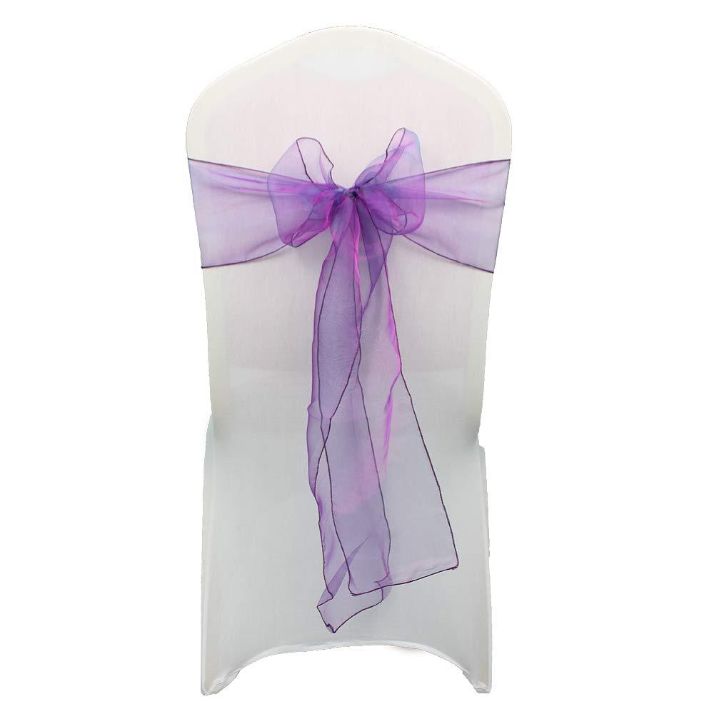 Violet Violet  mariage Décor 17cm de grand 274cm de long - Organza Jupettes président Cover Bows Fuller pour mariage anniversaire fête événeHommests 34 couleurs, 125 pièces