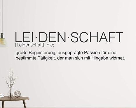 Tjapalo A107 Wandtattoo Buro Spruche Motivation Deutsch Wandspruche Buro Motivationsspruch Leidenschaft Farbe Gold Metallic Grosse B140xh33cm Amazon De Baumarkt